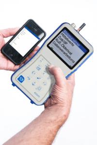 ecom-J2KNpro EASY - Abgasanalysegerät Bedienteil_App