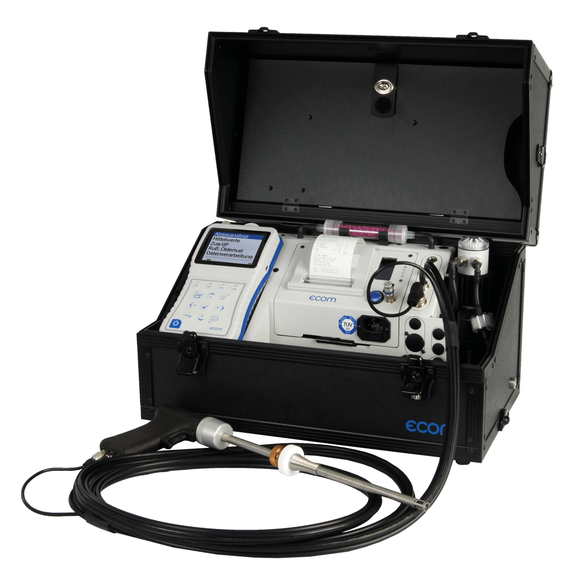 ecom-J2KNpro Easy - Abgasanalysegerät für größere Heizungsanalagen, Motoren, Brenner sowie industriellen Anwendungen