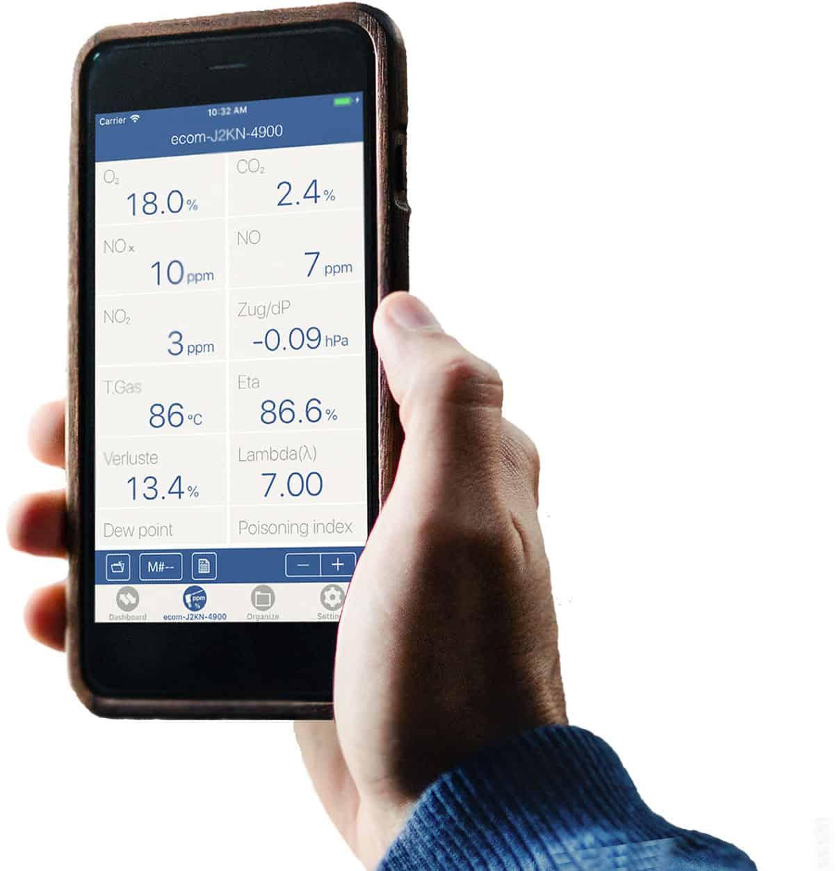 ecom Web App auf iPhone